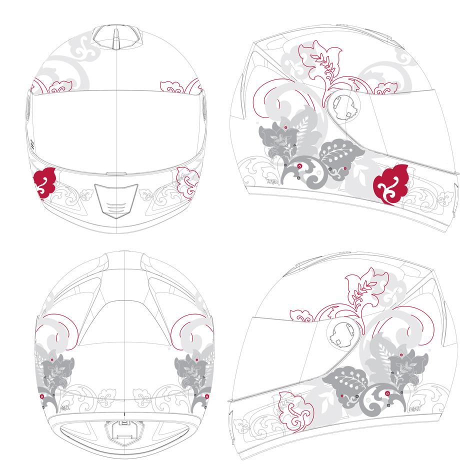 NOLAN grafica casco vettoriale