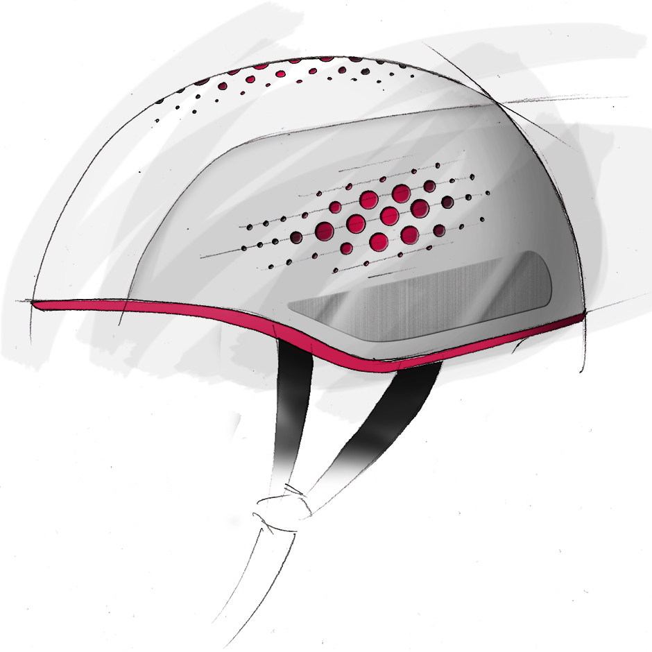 bike helmet concept design minimal language