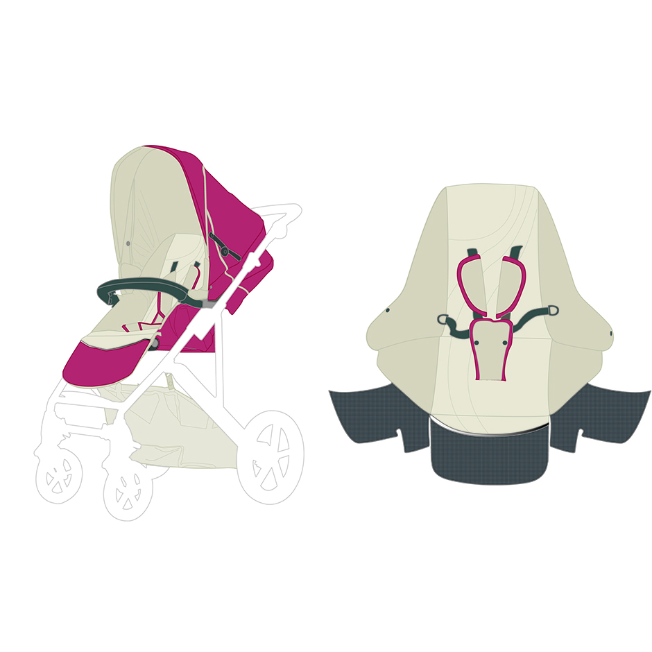 britax color design strolley